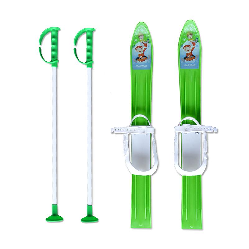 Baby Ski 60 cm - dětské plastové lyže - zelené