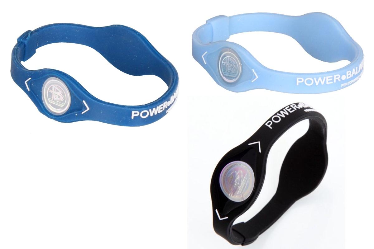 Silikonový náramek POWER BALANCE velikost M - světle modrý