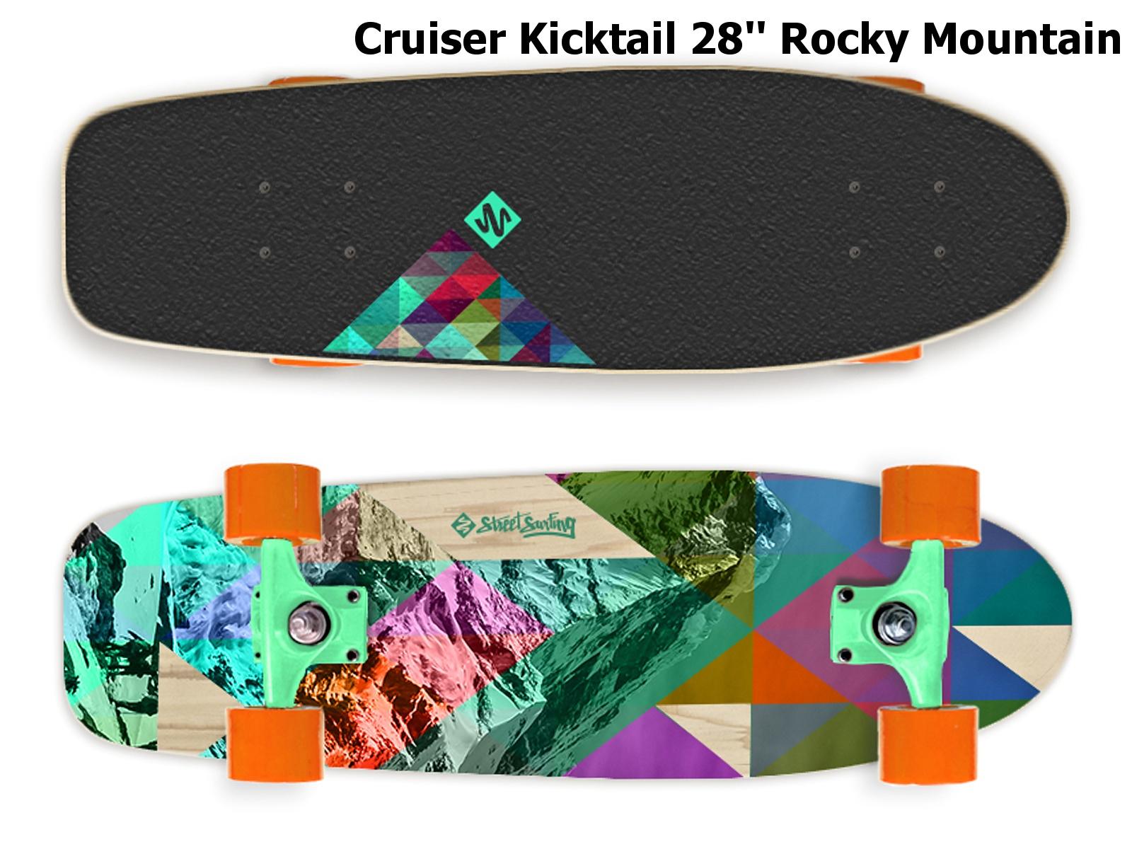 Skateboard STREET SURFING Cruiser Kicktail 28 Rocky Mountain