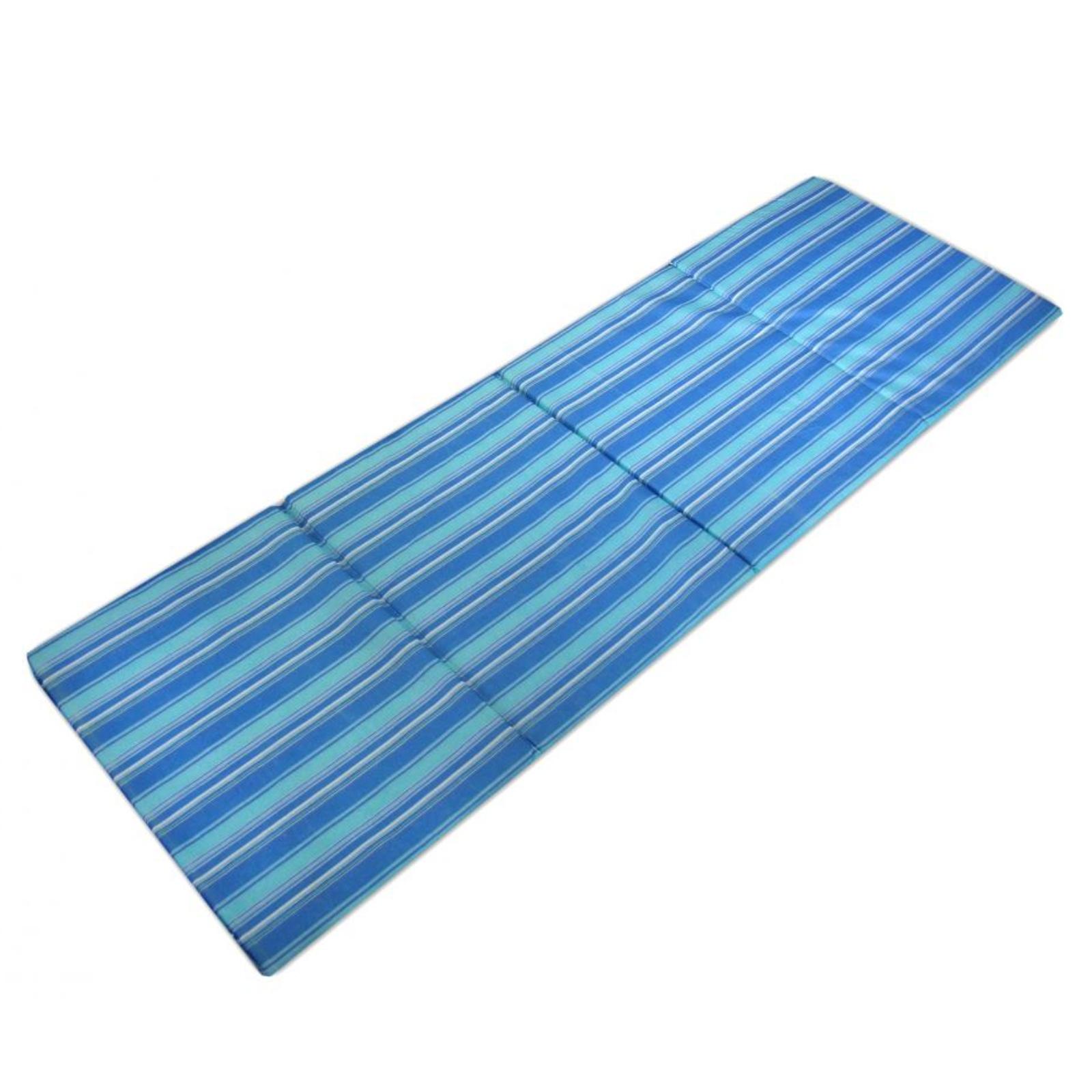 Plážové lehátko skládací - modré