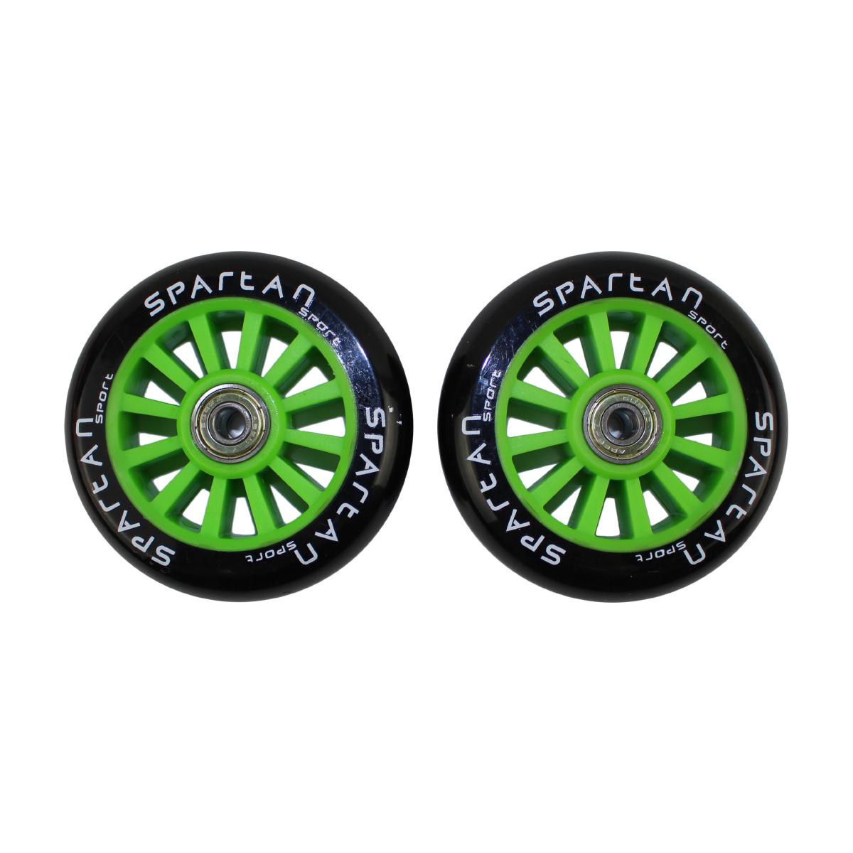 Náhradní kolečka na koloběžky SPARTAN Stunt 100 mm - zelené