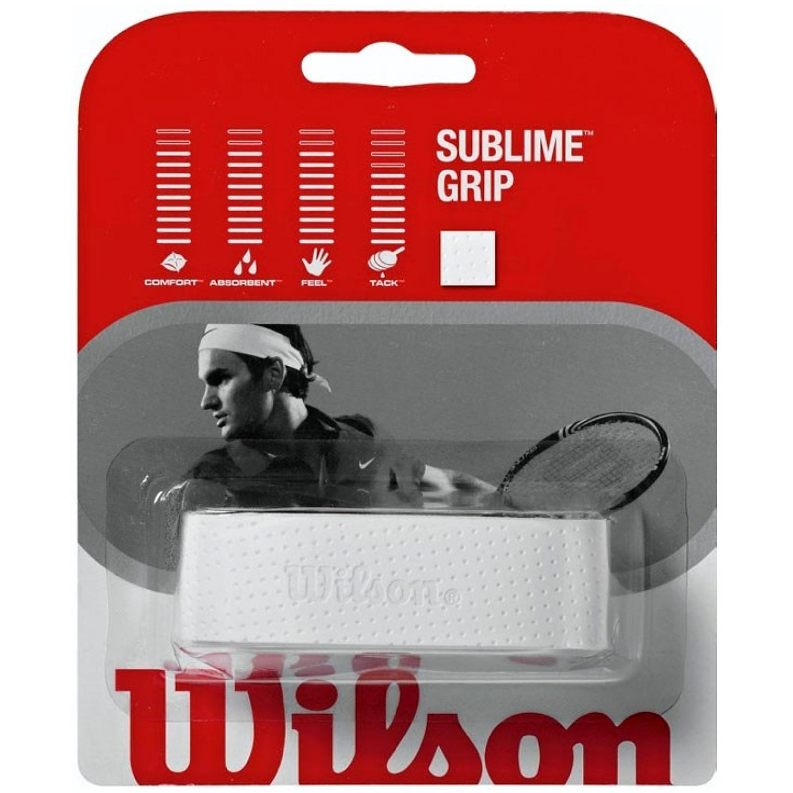 Squashová omotávka WILSON Sublime bílá