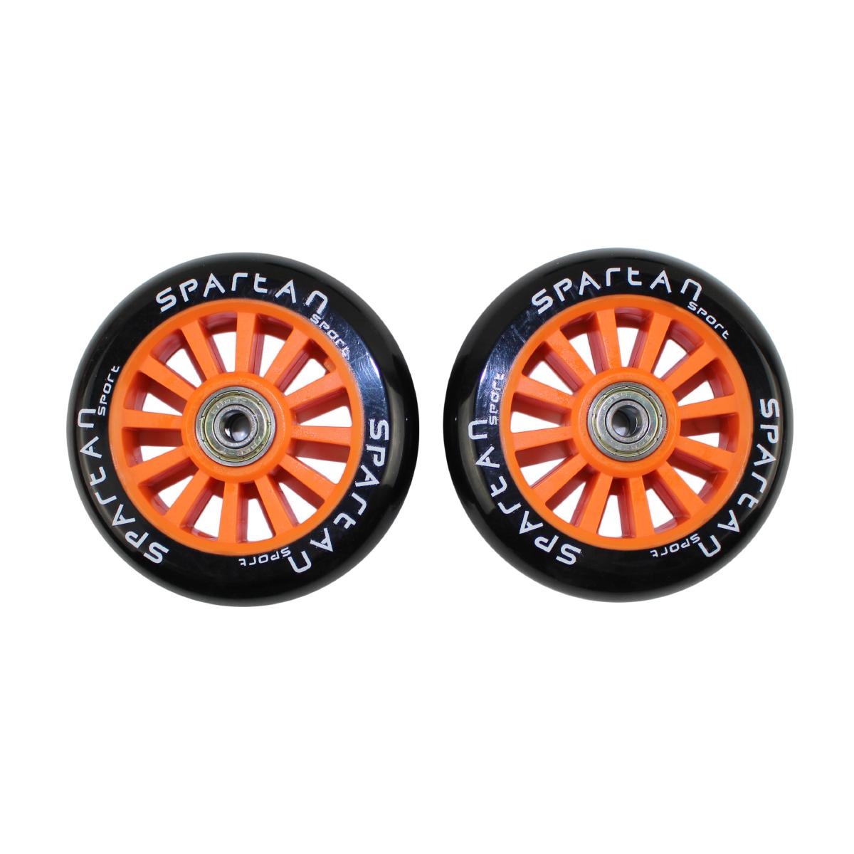 Náhradní kolečka na koloběžky SPARTAN Stunt 100 mm - oranžové