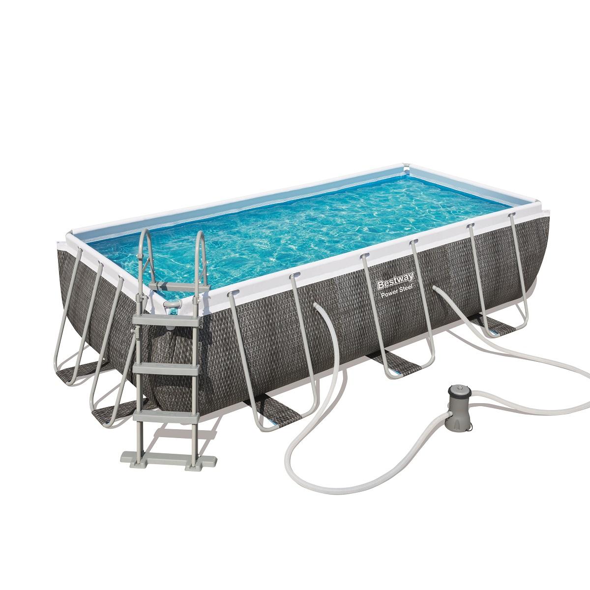 Bazén BESTWAY Power Steel Pool 404 x 201 x 100 cm set s kartušovou filtrací