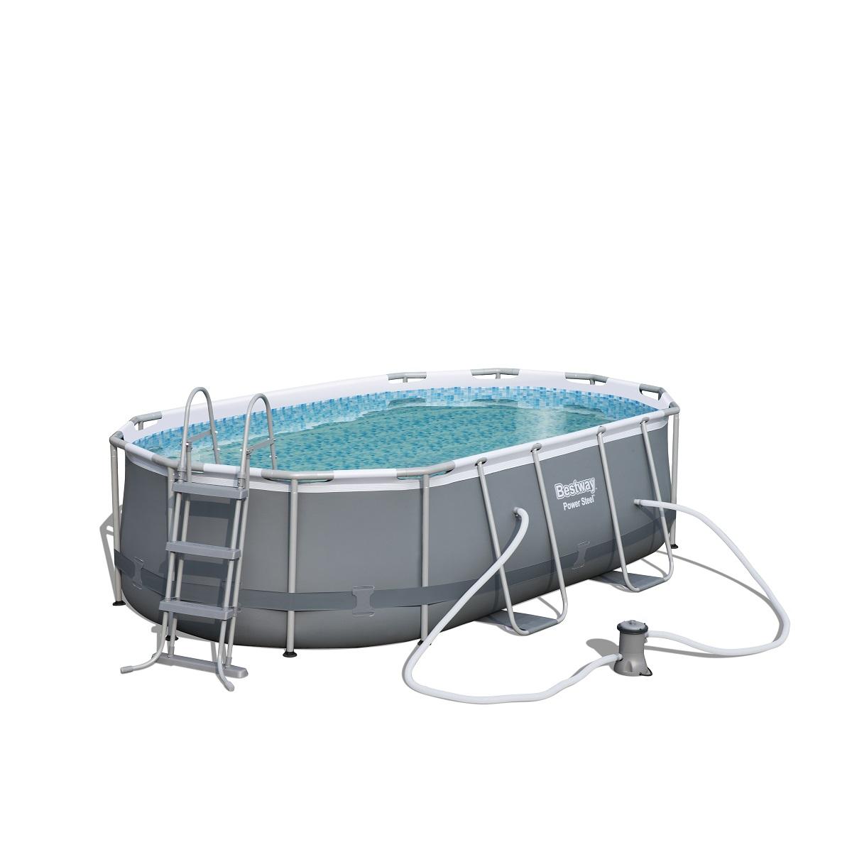 Bazén BESTWAY Power Steel Pool 424 x 250 x 100 cm set s kartušovou filtrací