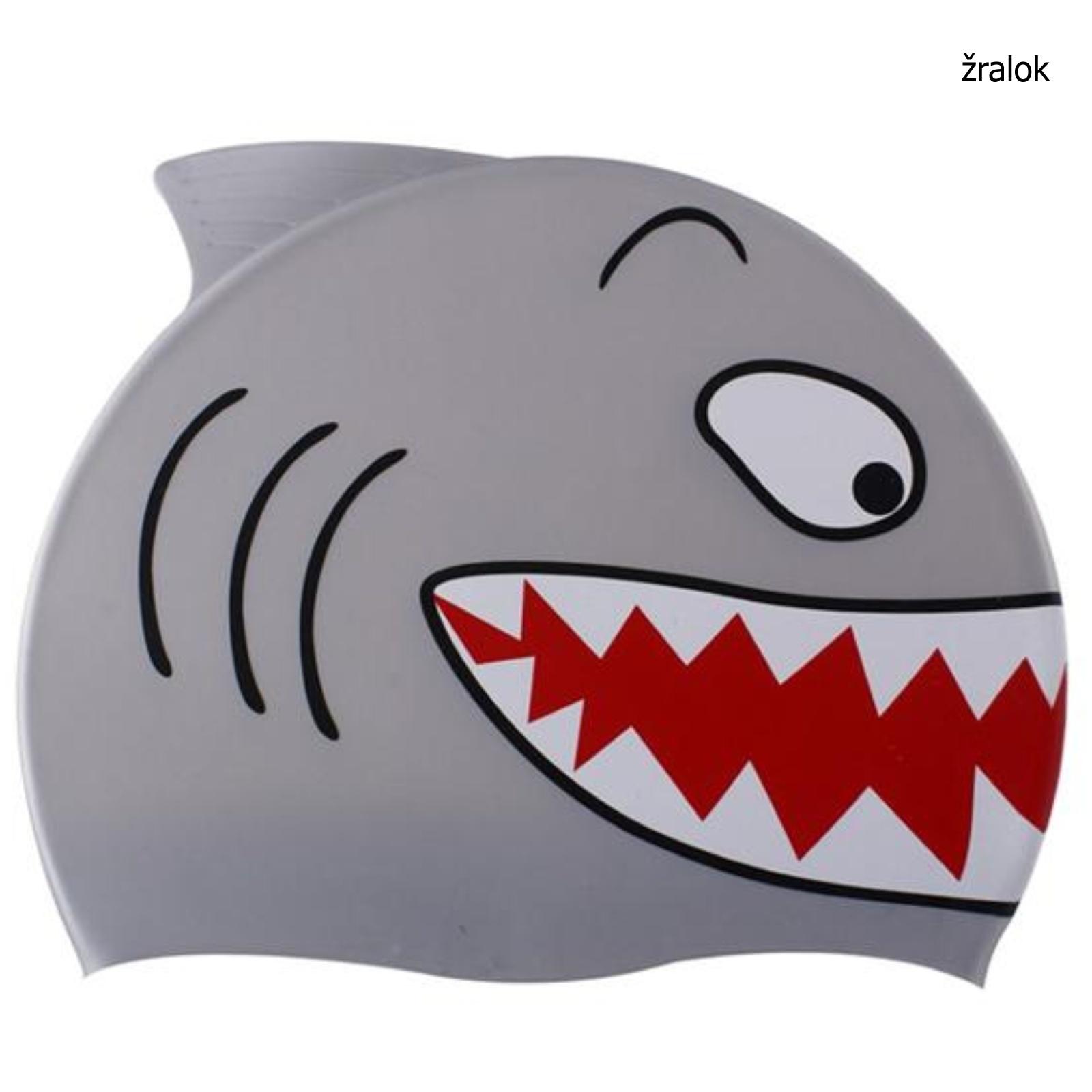 Koupací čepice dětská - žralok