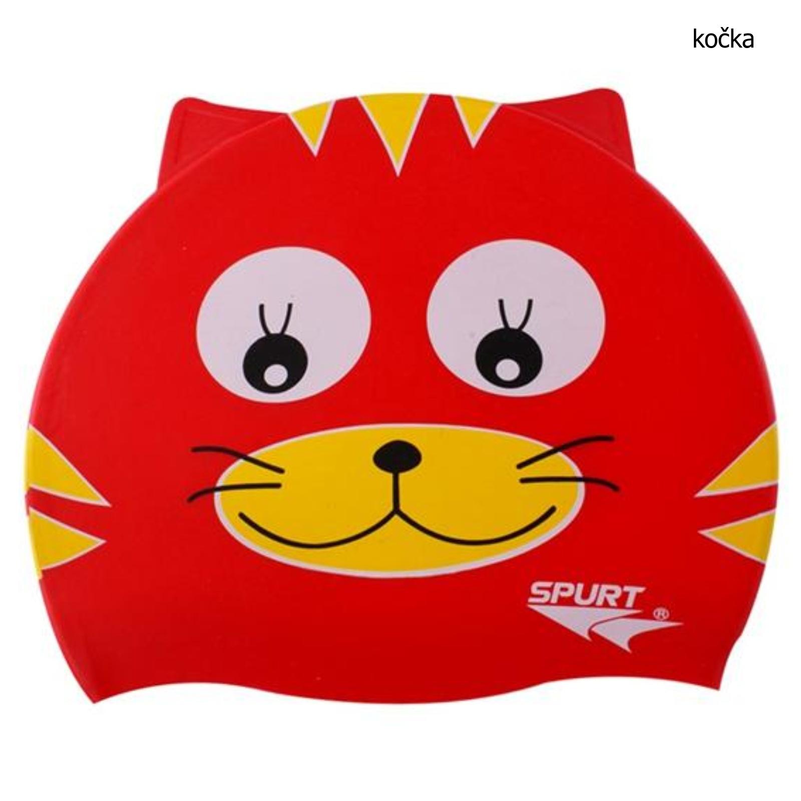 Koupací čepice dětská - kočka