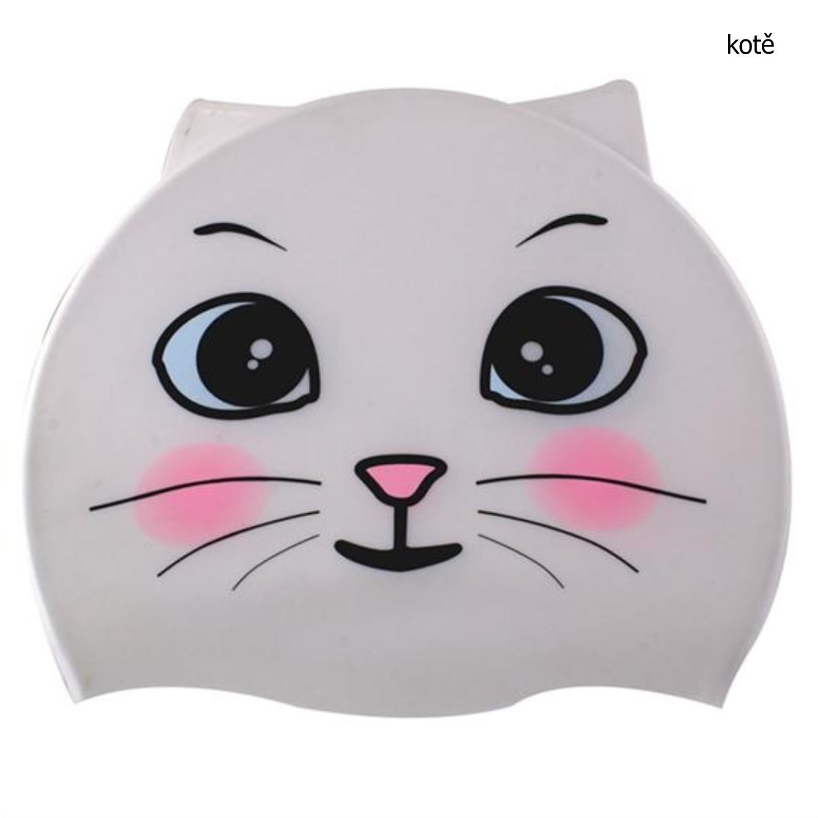 Koupací čepice dětská - kotě