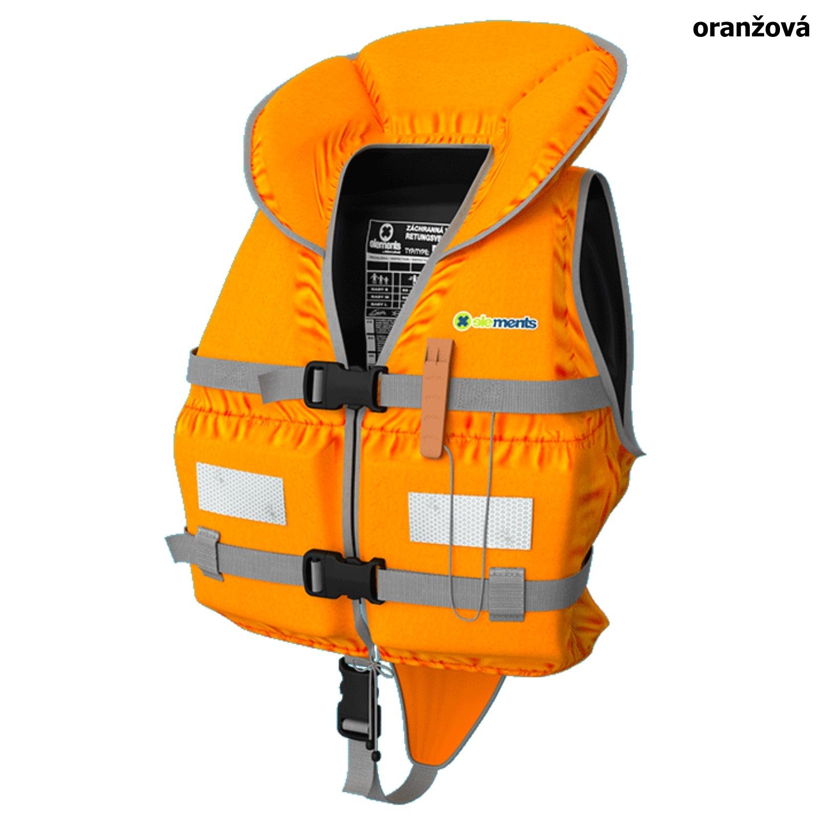 Záchranná vesta ELEMENTS GEAR Baby oranžová - vel. S