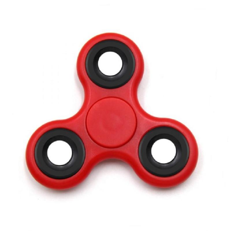 Fidget Spinner Me trojhranný - červený