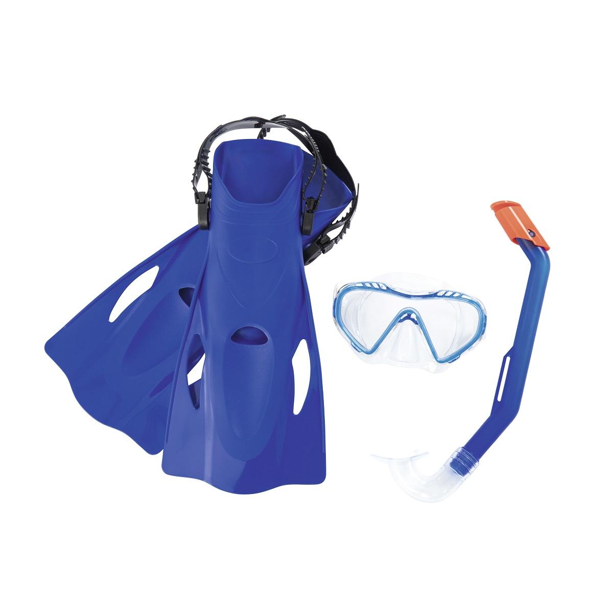 Potápěčský set BESTWAY Hydro Swim 25025 s ploutvemi - modrý