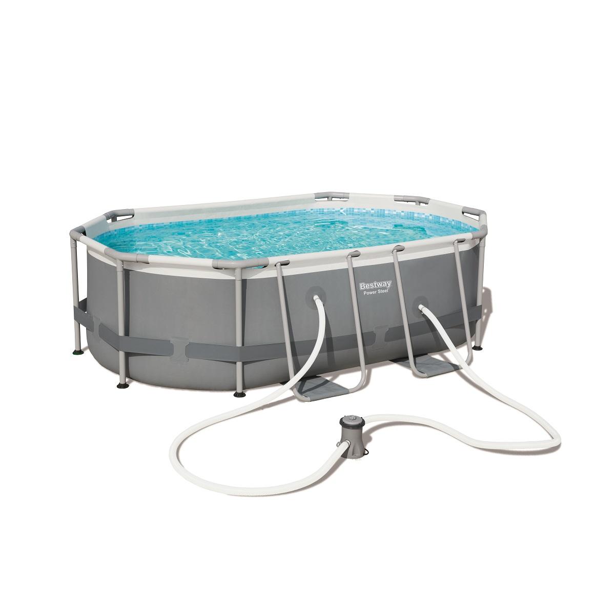 Bazén BESTWAY Power Steel 300 x 200 x 84 cm set s kartušovou filtrací