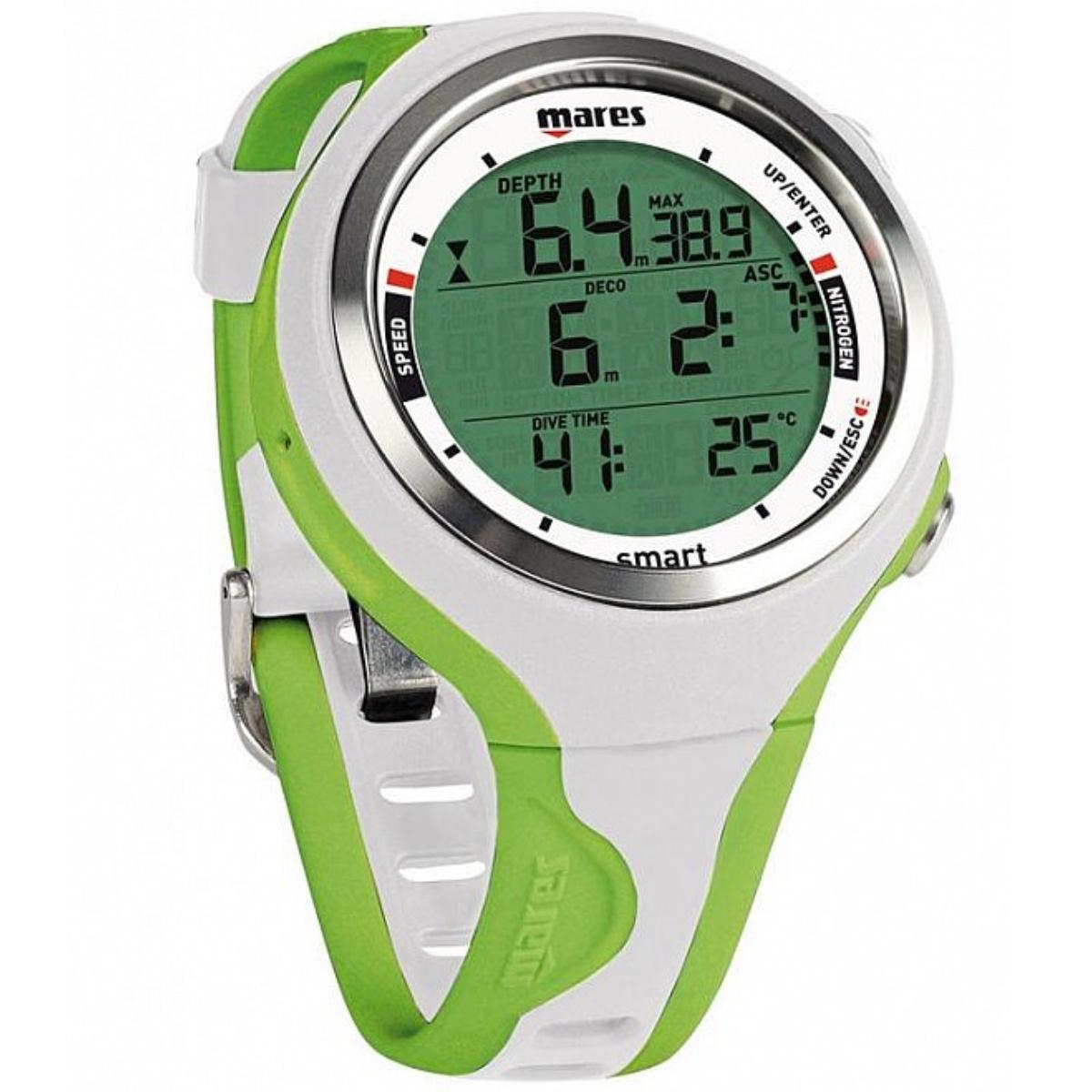 Potápěčský počítač MARES Smart zeleno-bílý
