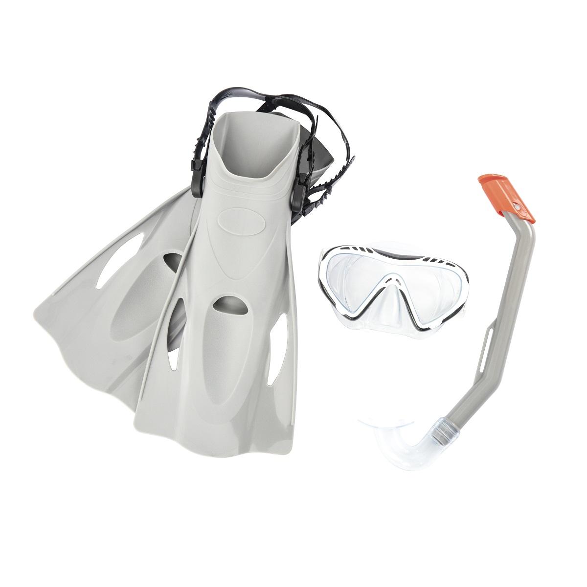 Potápěčský set BESTWAY Hydro Swim 25025 s ploutvemi - šedý