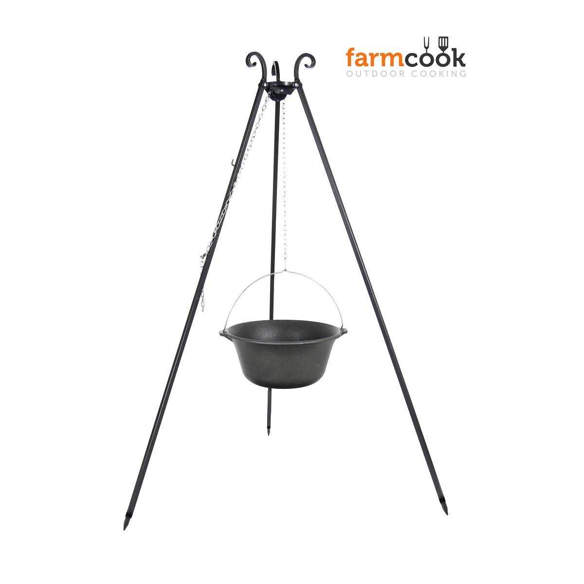 Trojnožka FARMCOOK Viking s kotlíkem 11 litrů