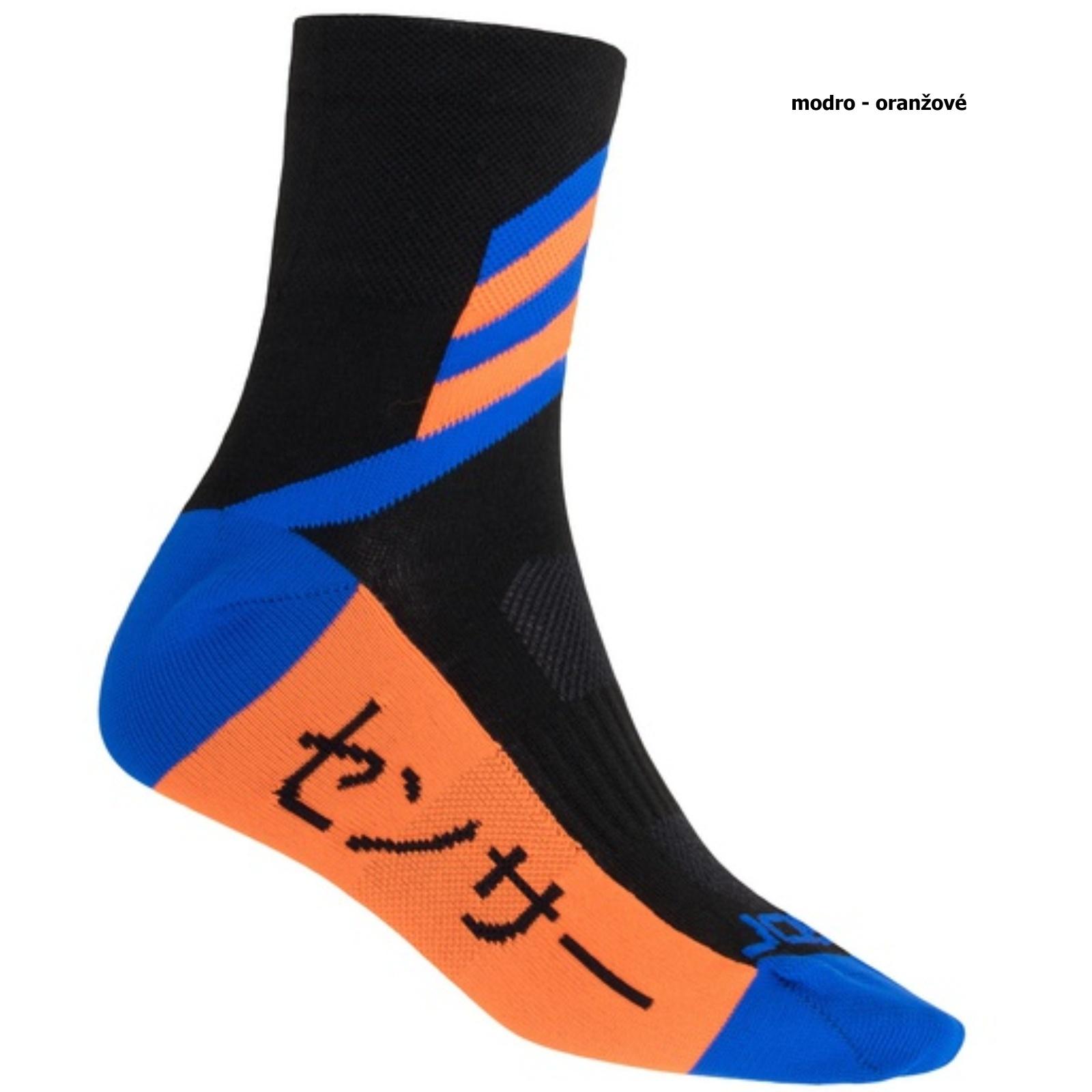 Sensor ponožky TOKYO černá-modrá-oranžová