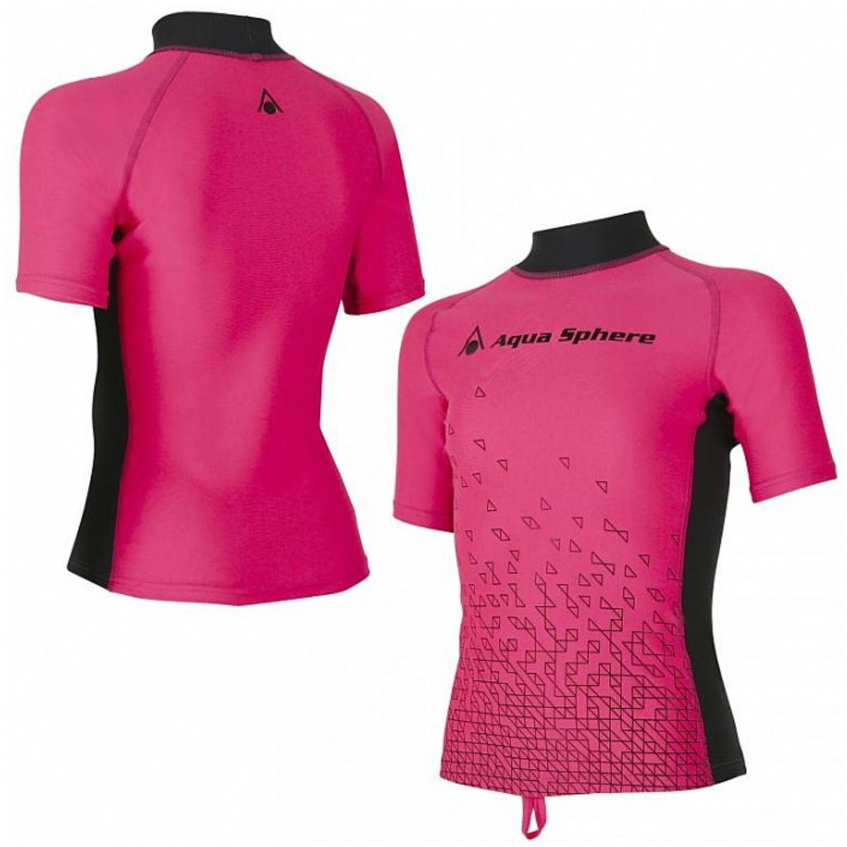 Lycrové triko AQUA SPHERE Bix dívčí růžové - vel. 110