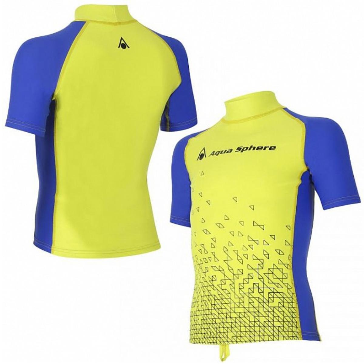 Lycrové triko AQUA SPHERE Bix chlapecké žluto-modré - vel. 176