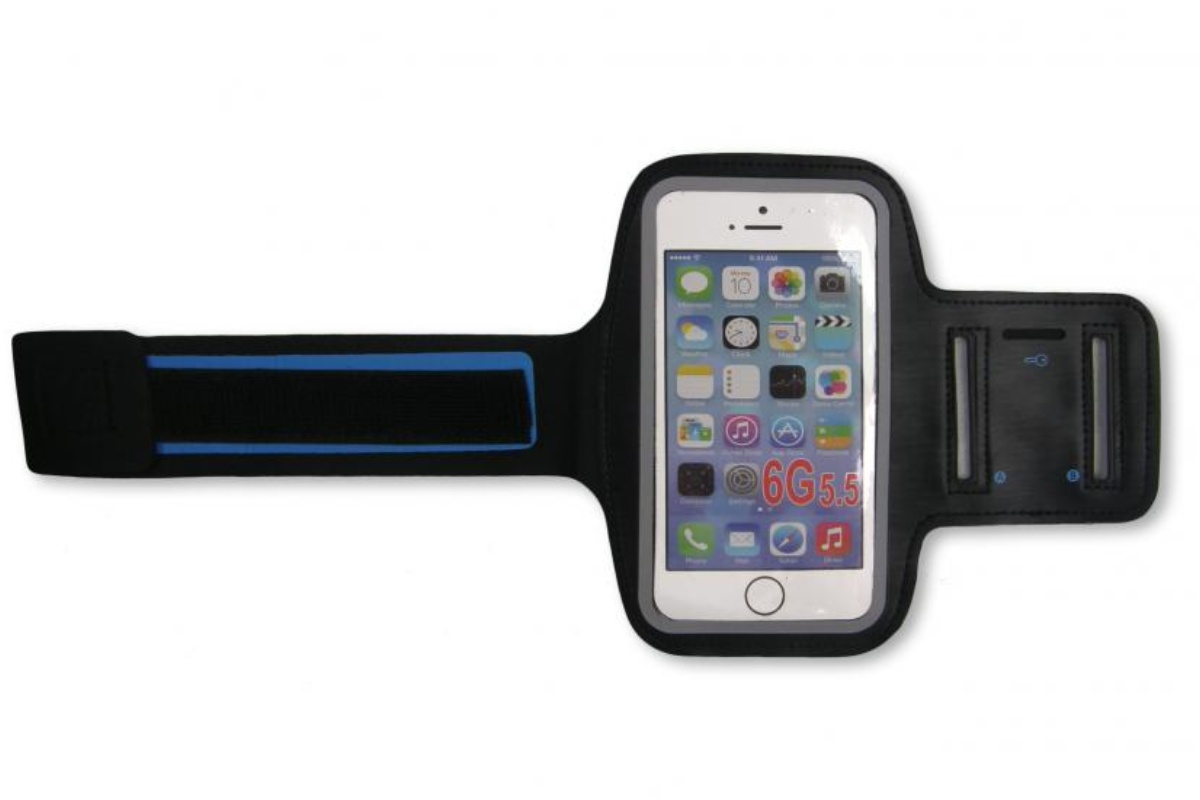 Sportovní obal na mobil LIVEUP s plastovým průhledem
