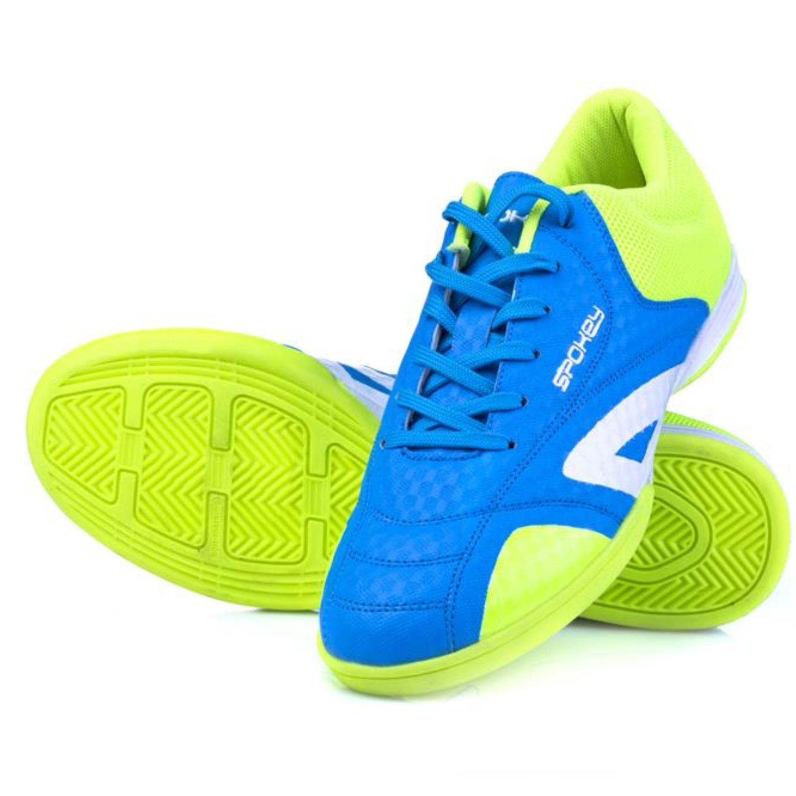Spokey HALL JR 1 Juniorská halová obuv modro-zelená