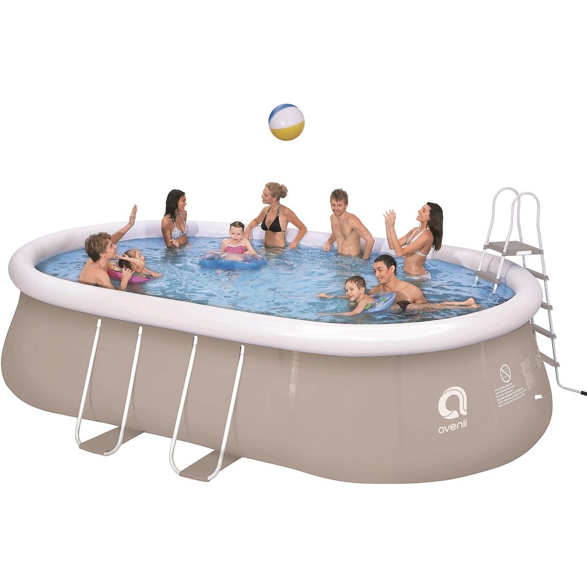 Bazén ovál Chinook Grey 540 x 304 cm set s pískovou filtrací