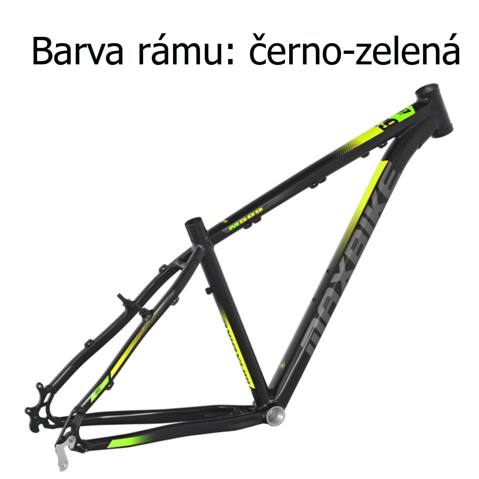 """Horské kolo MAXBIKE Nimba 26"""" černo-zelené - vel. rámu 17"""""""