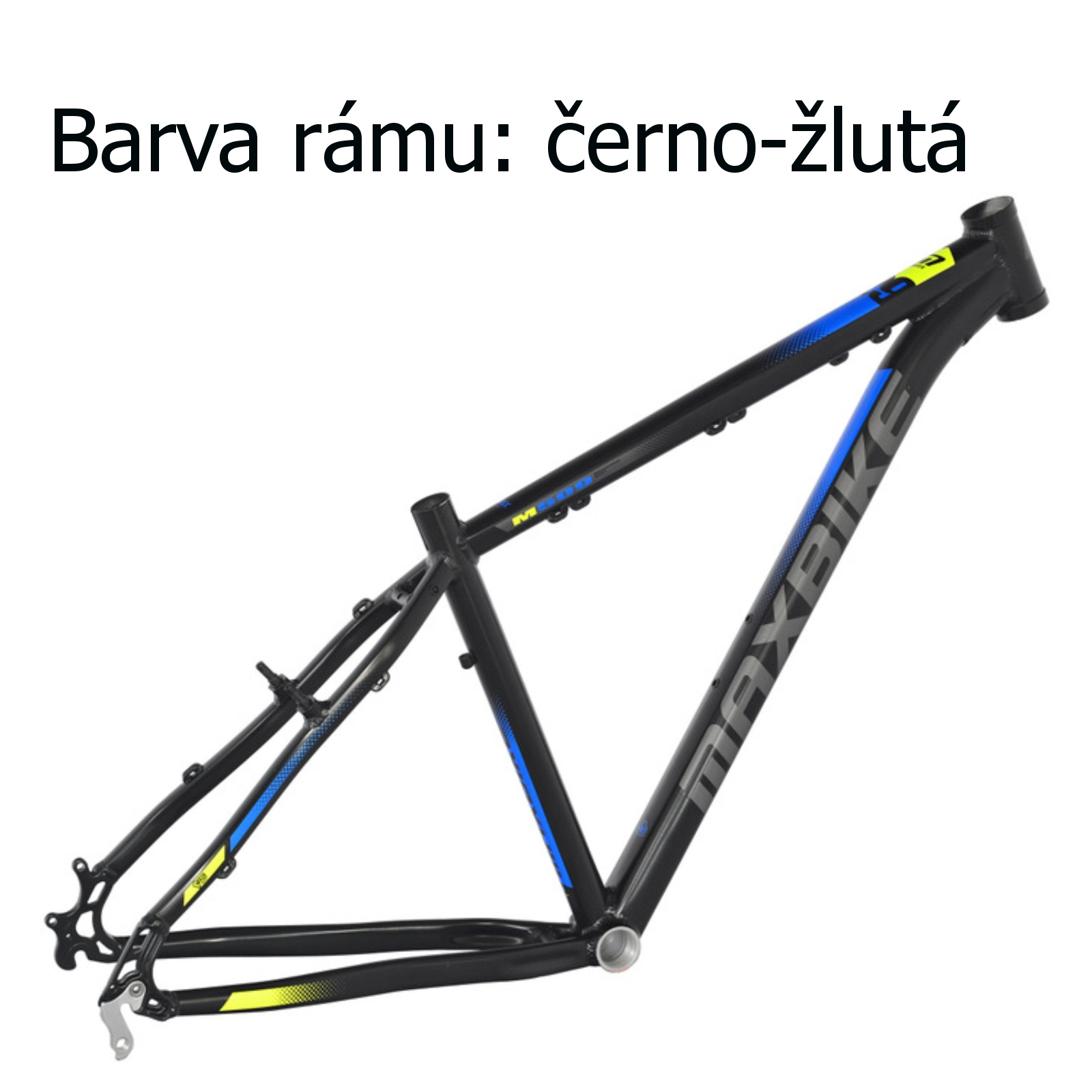 """Horské kolo MAXBIKE Nimba 26"""" černo-žluté - vel. rámu 17"""""""