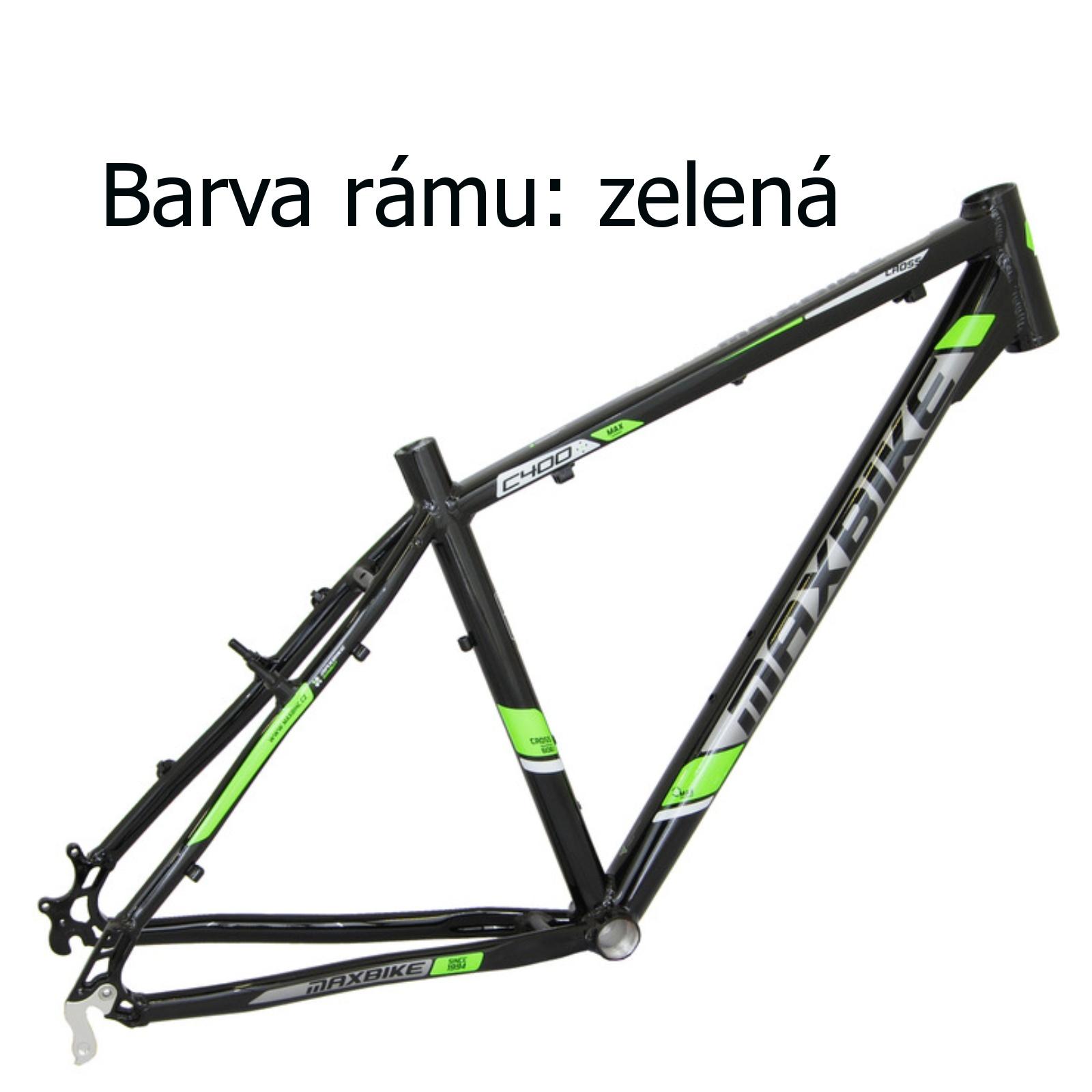 """Krosové kolo MAXBIKE Cavalla zelené - vel. rámu 16"""""""