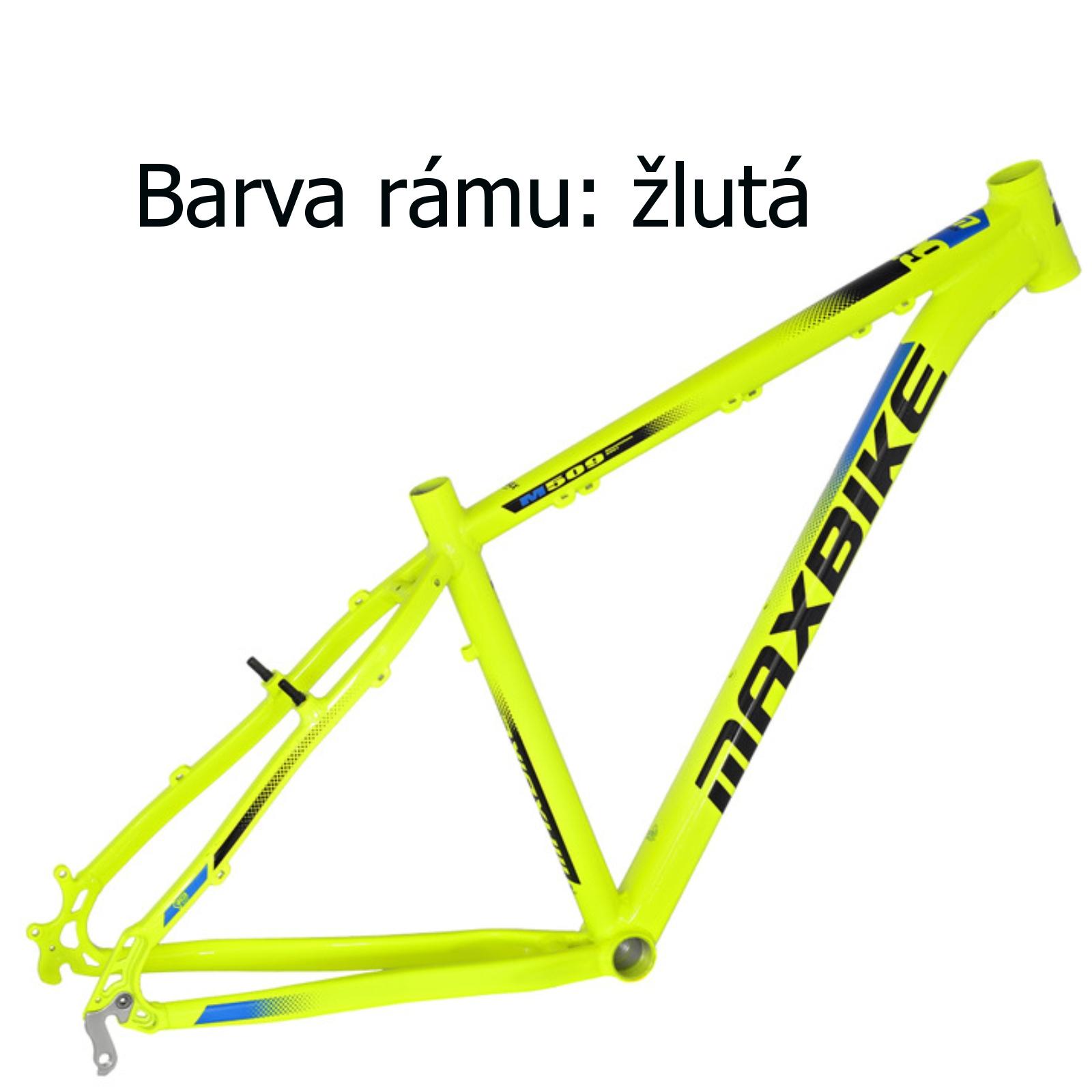 """Horské kolo MAXBIKE Nimba 26"""" žluté - vel. rámu 17"""""""