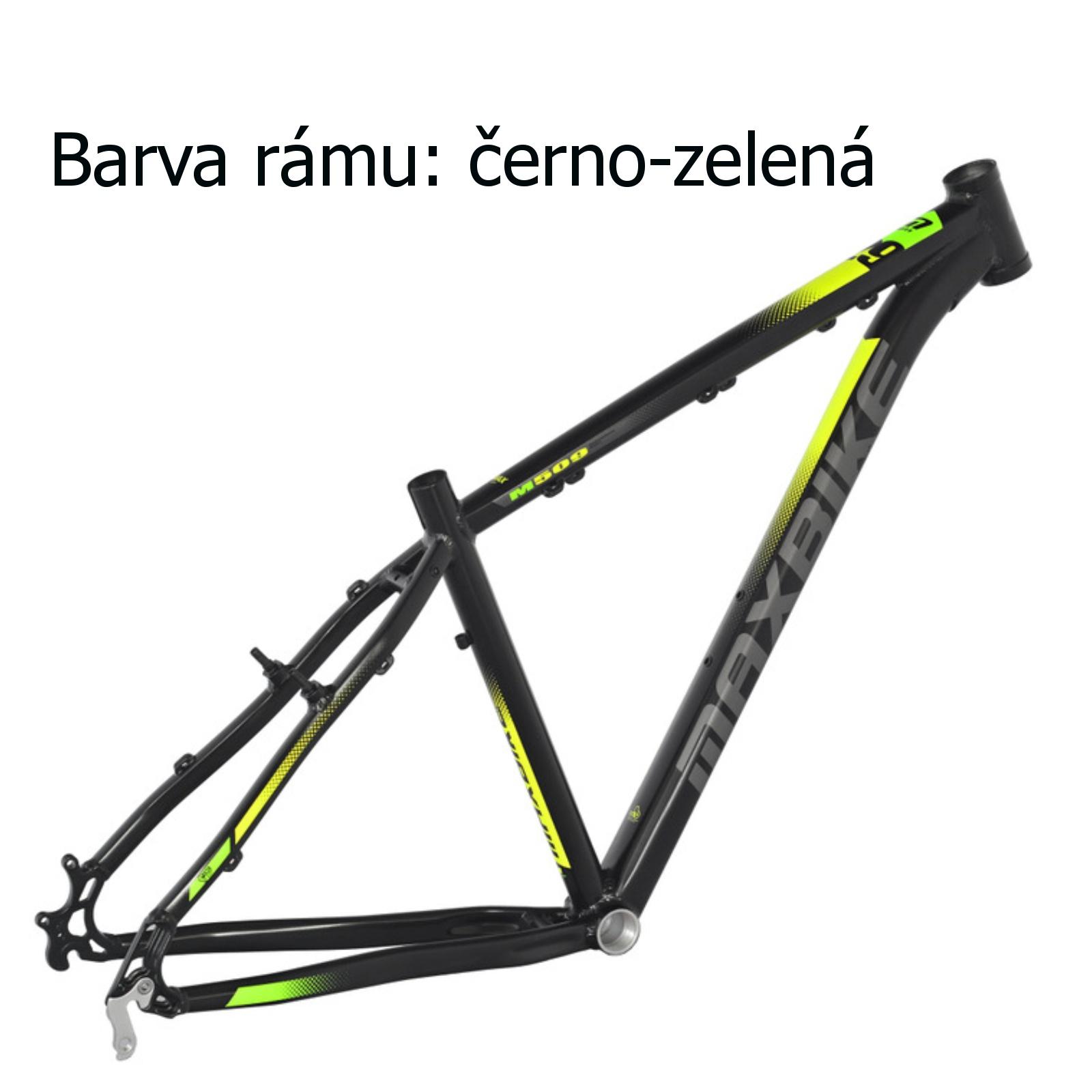 """Horské kolo MAXBIKE Apo 29 černo-zelené - vel. rámu 17"""""""