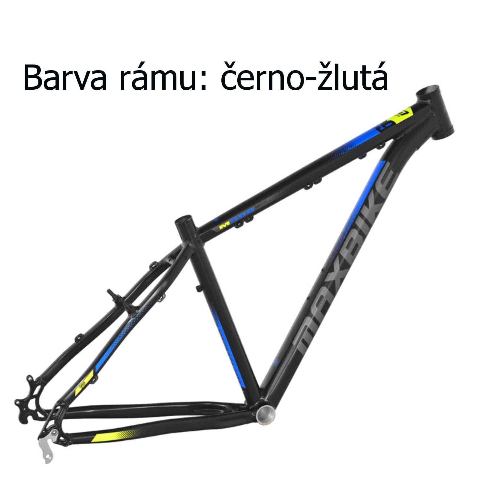 "Horské kolo MAXBIKE Apo 29 černo-žluté - vel. rámu 17"""