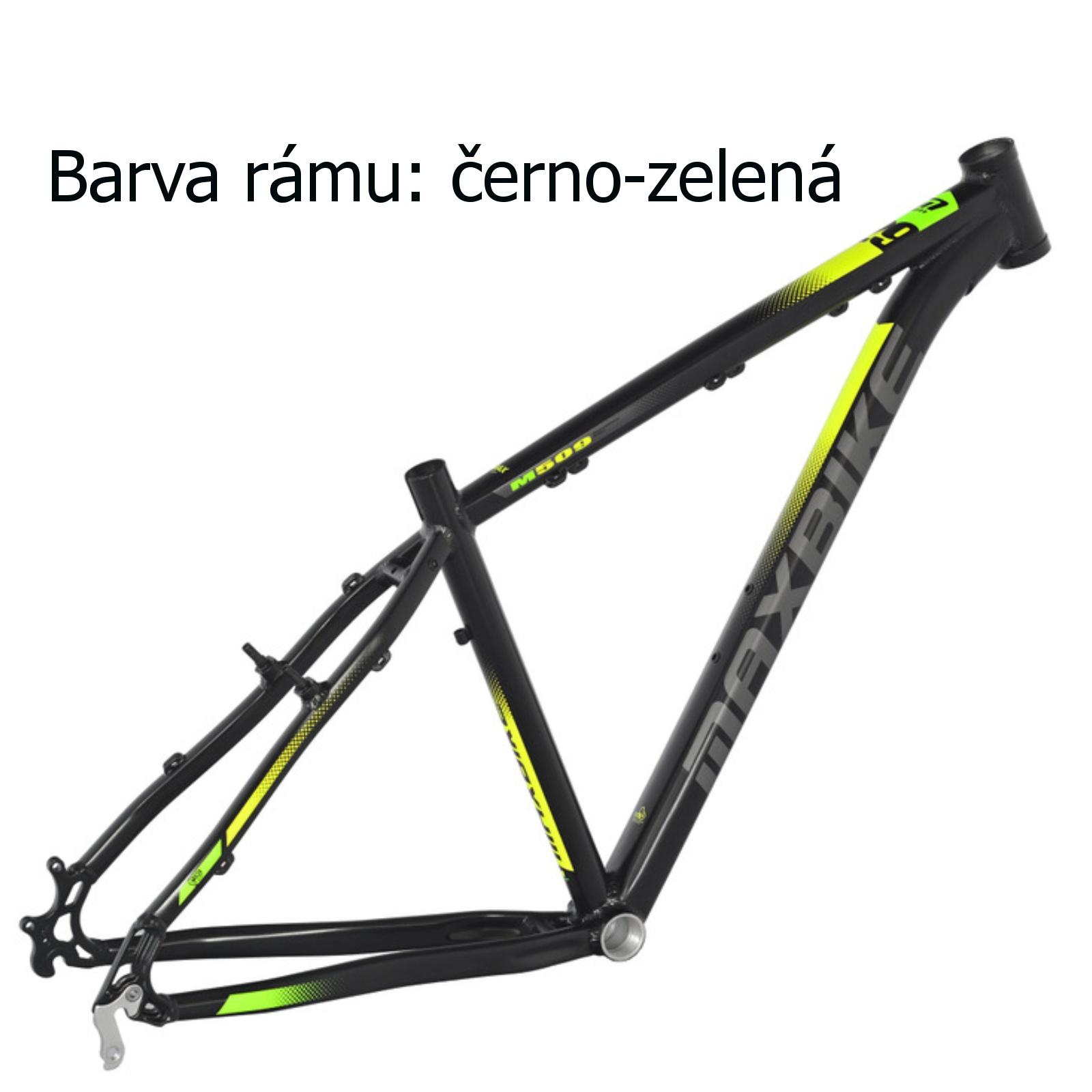 """Horské kolo MAXBIKE Toba 27.5 černo-zelené - vel. rámu 17"""""""
