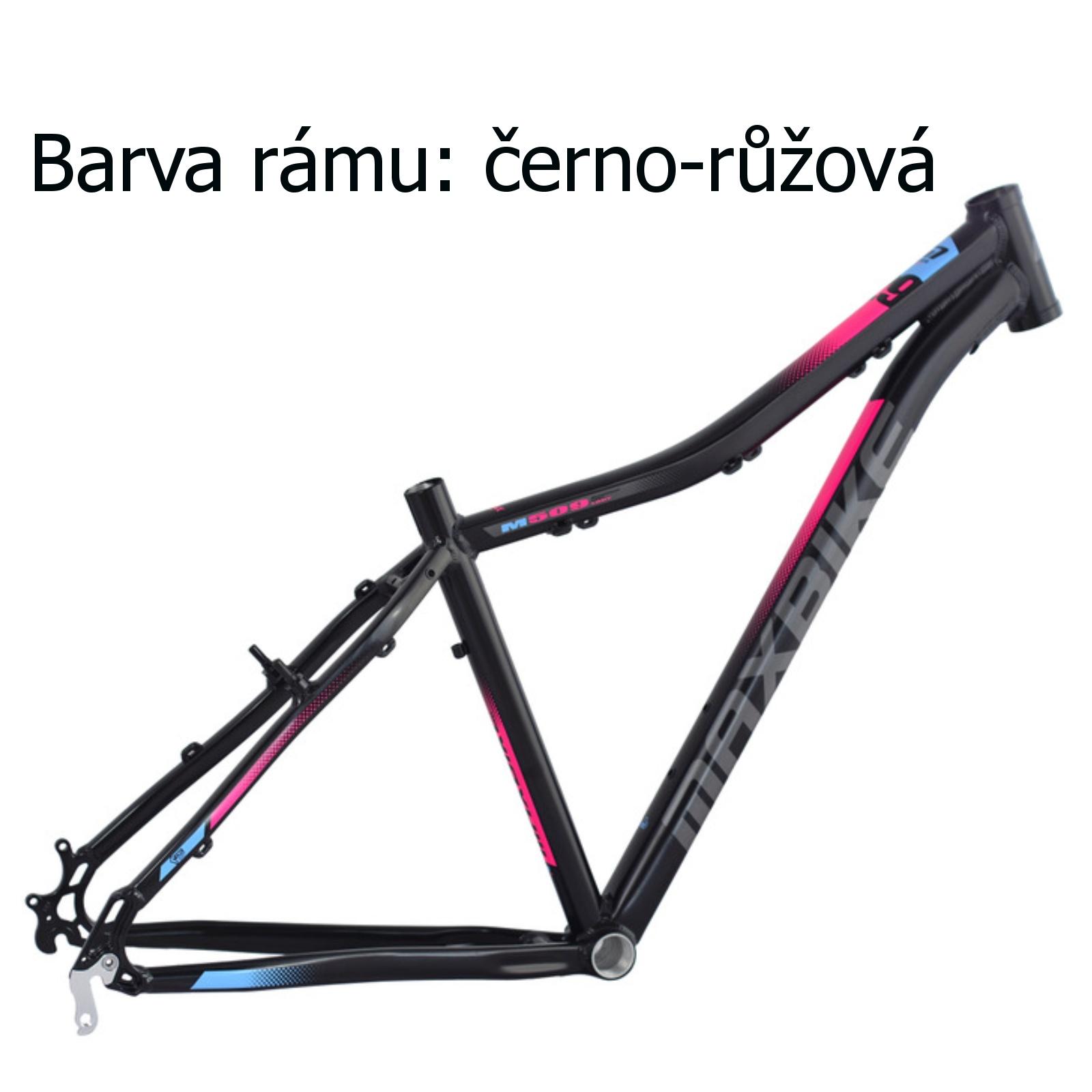 """Horské kolo MAXBIKE Apo 26 dámské černo-růžové - vel. rámu 15"""""""
