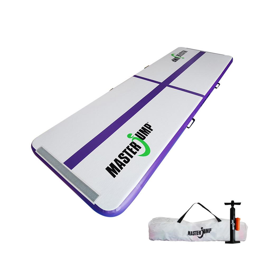 Airtrack MASTERJUMP nafukovací žíněnka 300 x 100 x 10 cm - fialová