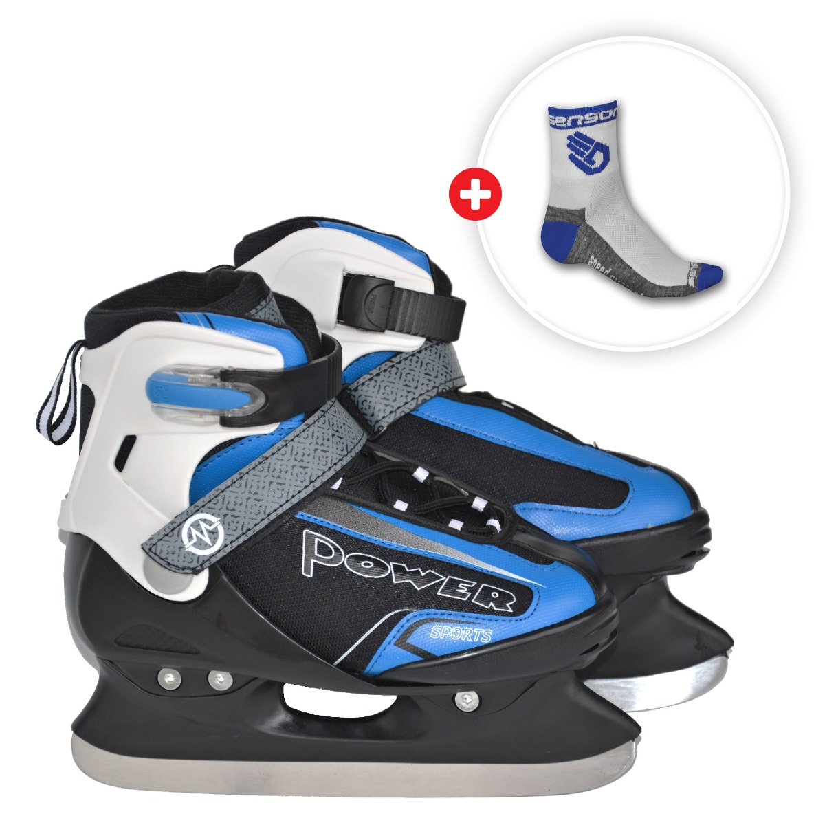 Akční set - Brusle MASTER Maple 2v1 Blue 38-41 + ponožky Race Lite modré - vel. 6-8