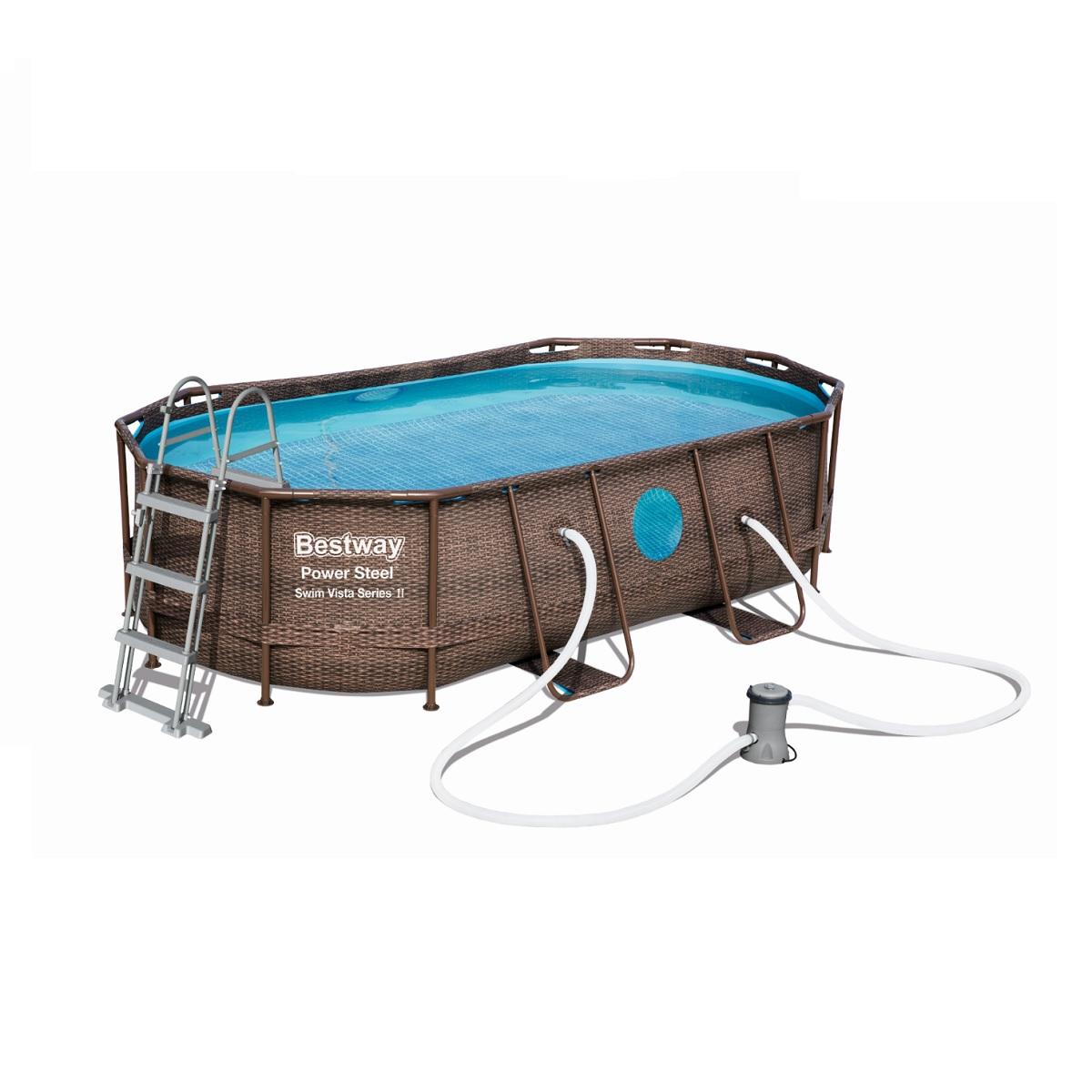Bazén BESTWAY Power Steel Vista 427 x 250 x 100 cm set s filtrací