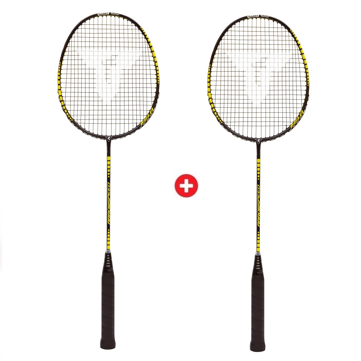 Akční set - 2x Badmintonová raketa TALBOT TORRO Arrowspeed 199.8