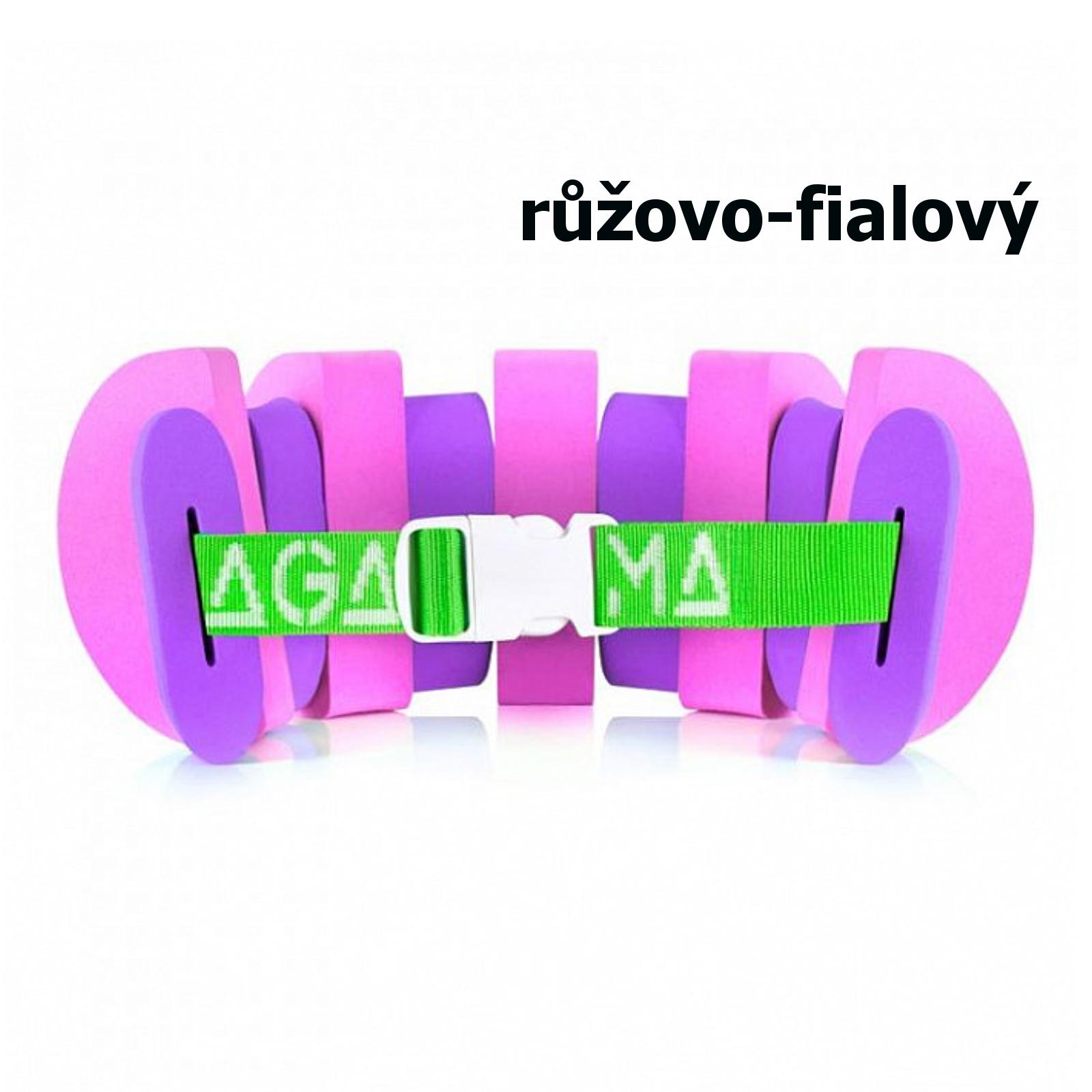 Plavecký pás AGAMA Swim 11 dílů - růžovo-fialový