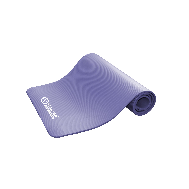 Levně Podložka na cvičení MASTER Yoga NBR 10 mm - 183 x 61 cm - fialová