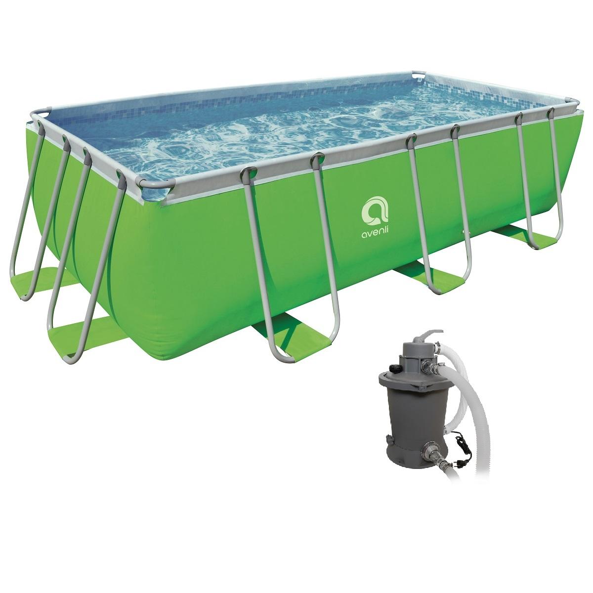 Bazén s pevnou stěnou Passaat Green 400 x 200 x 99 cm set s pískovou filtrací
