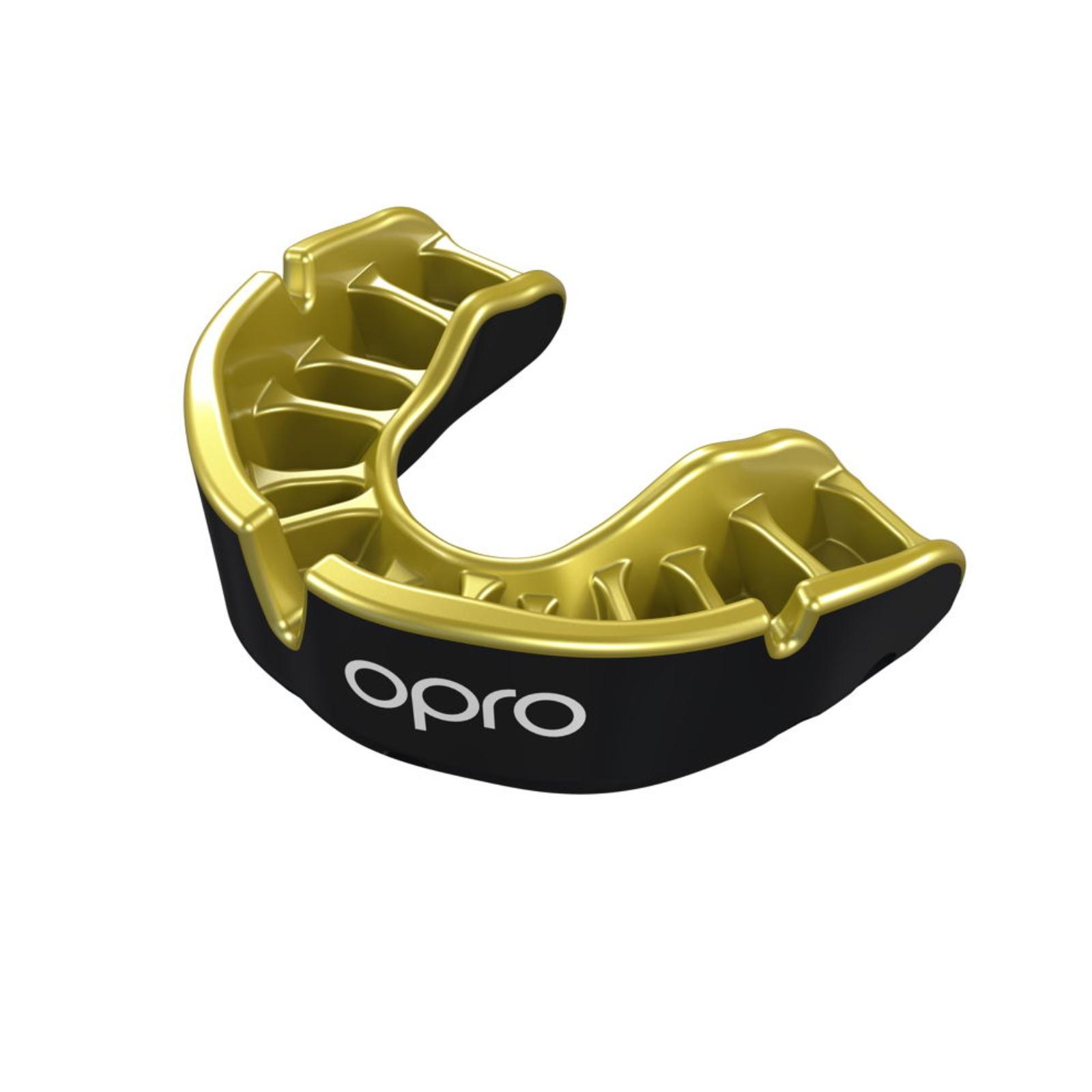 Chránič zubů OPRO Gold senior - černý