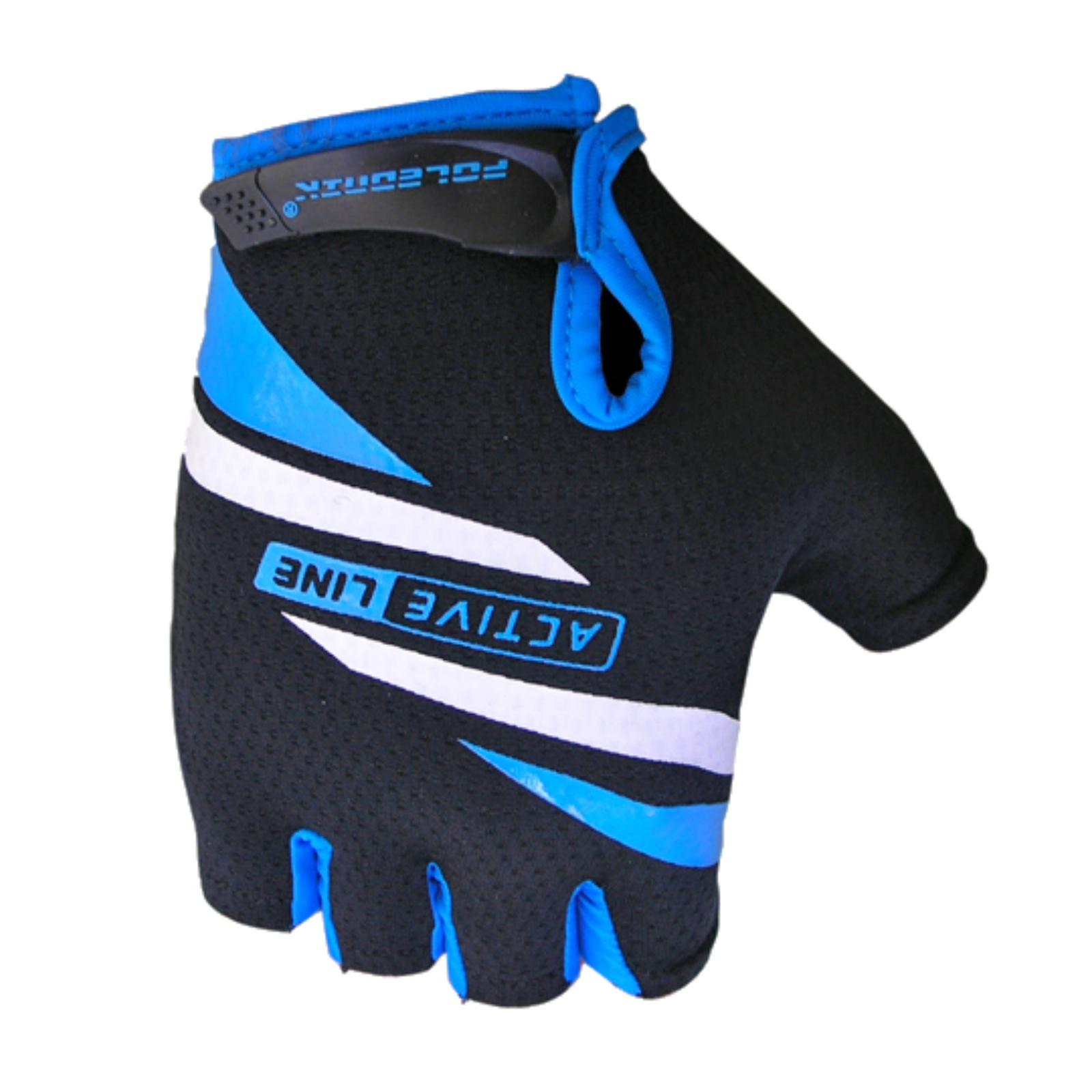 Cyklo rukavice POLEDNIK Active krátké černo-modré
