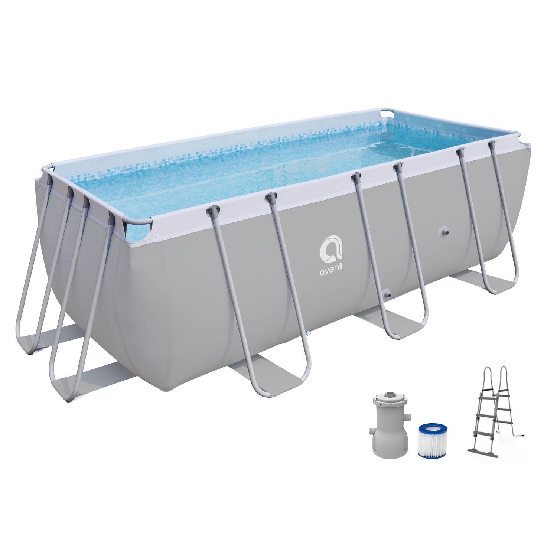 Bazén s pevnou stěnou Steel Super 400 x 200 x 99 cm set s filtrací