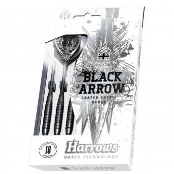 Šipky HARROWS Black Arrow softip 14g
