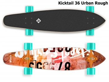 Longboard STREET SURFING Kicktail 36 Urban Rough