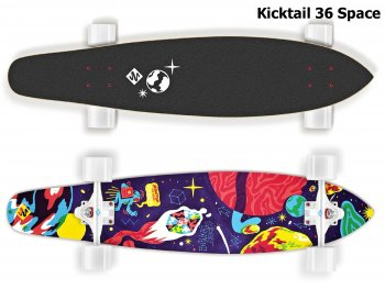 Longboard STREET SURFING Kicktail 36 Space