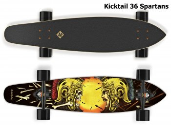 Longboard STREET SURFING Kicktail 36 Spartans