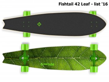 Longboard STREET SURFING Fishtail 42 Leaf - list 2016