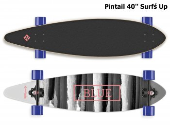 Longboard STREET SURFING Pintail 40'' Surfś Up