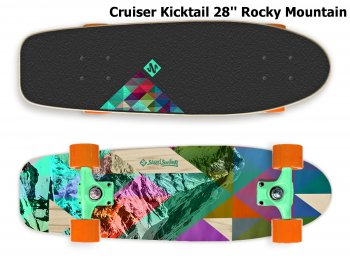 Skateboard STREET SURFING Cruiser Kicktail 28'' Rocky Mountain
